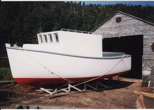 Twenty-five foot fishing boat built by Norman Strickland in North Bay, 2002/03.