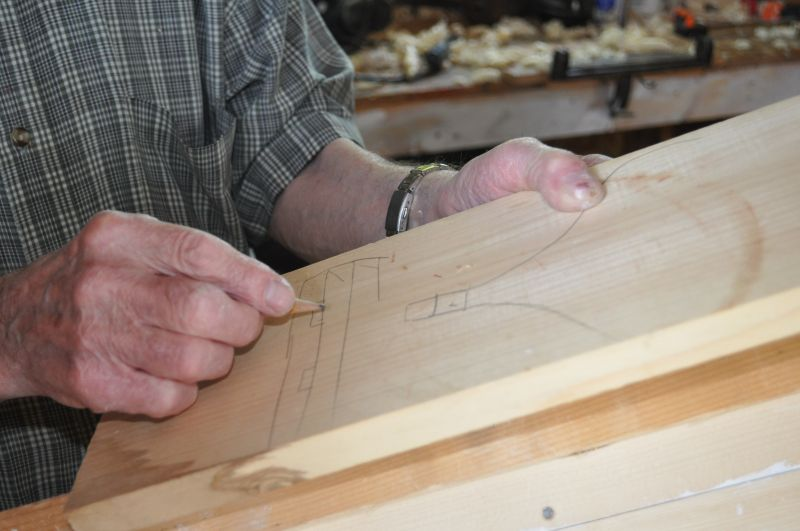 Sam Feltham describes how he plans to make the breasthook for his punt, Glovertown, 2012