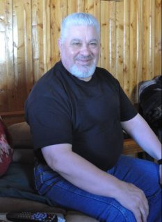 Joe Brown at his home in North West River, 2014.