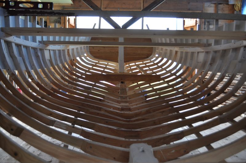 Motorboat under construction, 2014