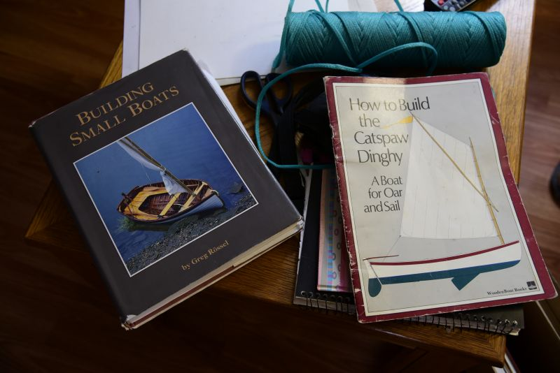 Some of Edwin's books. This is the source of inspiration for his modified rodney.