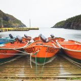 Dories in Little Port, NL.